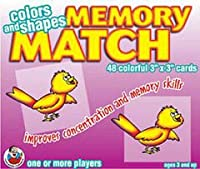 FRANK SCHAFFER PUBLICATIONS MEMORY MATCH COLORS & SHAPESAGES 3-7