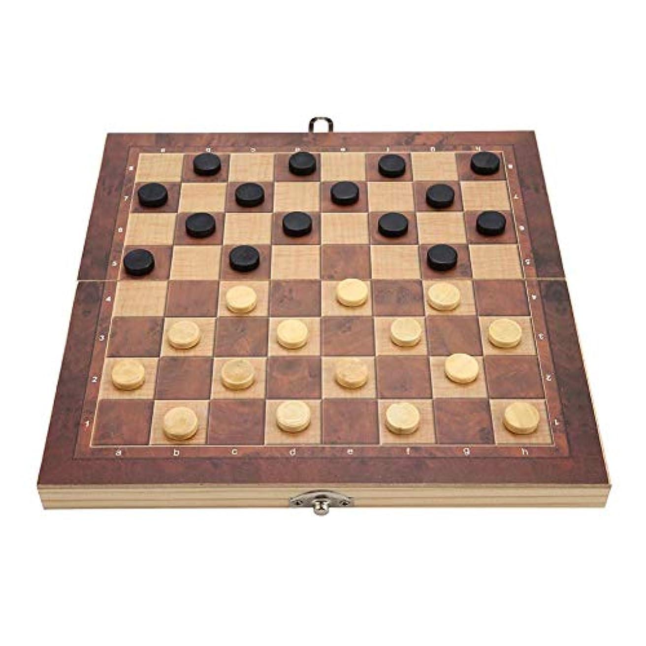 ハウジングなんでも閉じるチェス盤ゲーム チェスチェス盤セット 折りたたみ式ポータブル 持ち運び可能 滑らかな表面 耐久性 木製 収納が簡単 大人/子供/初心者用 子供の知能ゲーム