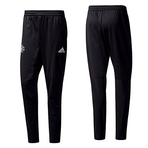 アディダス 17-18 マンチェスター・ユナイテッド UCL トレーニング パンツ ブラック×レッド S