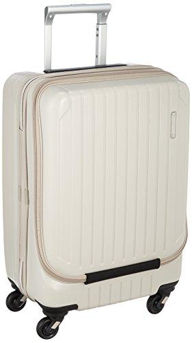 [サンコー] ACTIVE CUBE SKYMAX S スーツケース スカイマックス フロントオープン 機内持込 極静キャスター 小型 軽量 容量37L 縦サイズ55cm 重量3.1kg SAAS-FO エンボスベージュ