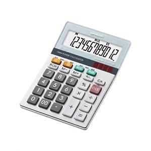 シャープ 実務電卓 グリーン購入法適合モデル ミニナイスサイズタイプ 12桁 EL-M712KX