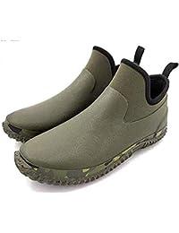 [NEOKER] ショートレインブーツ メンズ 軽量 防滑 完全防水 スニーカー用レインシューズ たんたんブーツ ベリーショートブーツ カジュアルシューズ アウトドア 通勤 作業用 釣り 梅雨対策 大きいサイズ グリーン 27.0CM