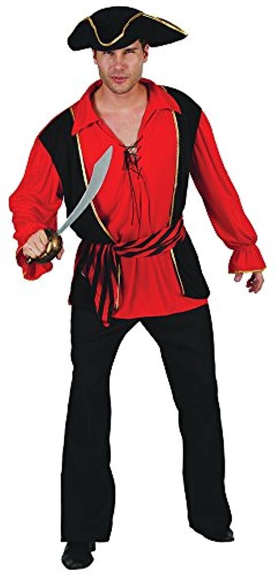 継承電報建物Bristol Novelty Red Pirate Captain Waistcoat & Shirt / Hat . Adult Costumes - Men's - One Size.