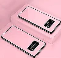 サムスンA8Sケース、バックガラスTPUケース耐震カバー、サムスンNOTE10,ピンク,SamsungA8S