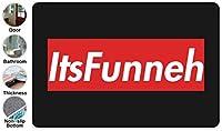 3D Funny ドアマット 洗える 吸水 速乾 滑り止め オールシーズン適用 (39.88 X 59.7cm)