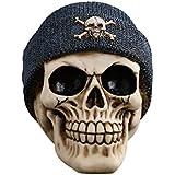 BESTOYARD ハロウィーンのインドの頭蓋骨の装飾ハロウィーンの描画のサンプルとホームデコレーションの帽子のスケルトンの置物の怖い頭蓋骨の樹脂の頭蓋骨のモデル