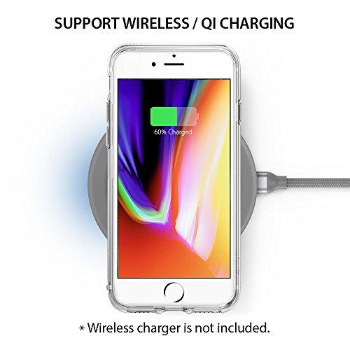 『【Ringke】iPhone 8 / iPhone 7 ケース 対応 コスパ最高 クリア 透明 落下防止 ストラップホール スマホケース [米軍MIL規格取得] TPU PC 二重構造 吸収耐衝撃カバー Qi充電対応 Fusion (Clear/クリア)』の6枚目の画像