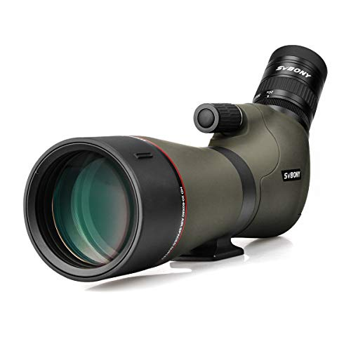 SVBONY SV46 フィールドスコープ HDレンズ 単眼望遠鏡 20-60x80mm ズーム 単眼鏡 全防水 高倍率 望遠鏡 バードウォッチング アーチェリー 自然観察 天体観測 射撃(三脚なし)