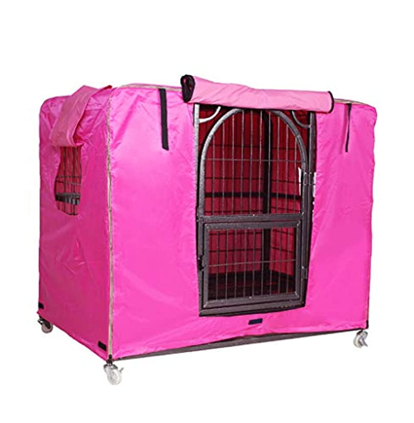 ポンプクラシック非常にXINGZHE ダストカバー - 暖かい犬用ケージカバー防風性のある防風性のある冷たい日焼け止めサンシェード防水オックスフォード布屋外の犬用ケージのダストカバー - 黒 ダストカバー (色 : C, サイズ さいず : 114 x 76 x 86cm)