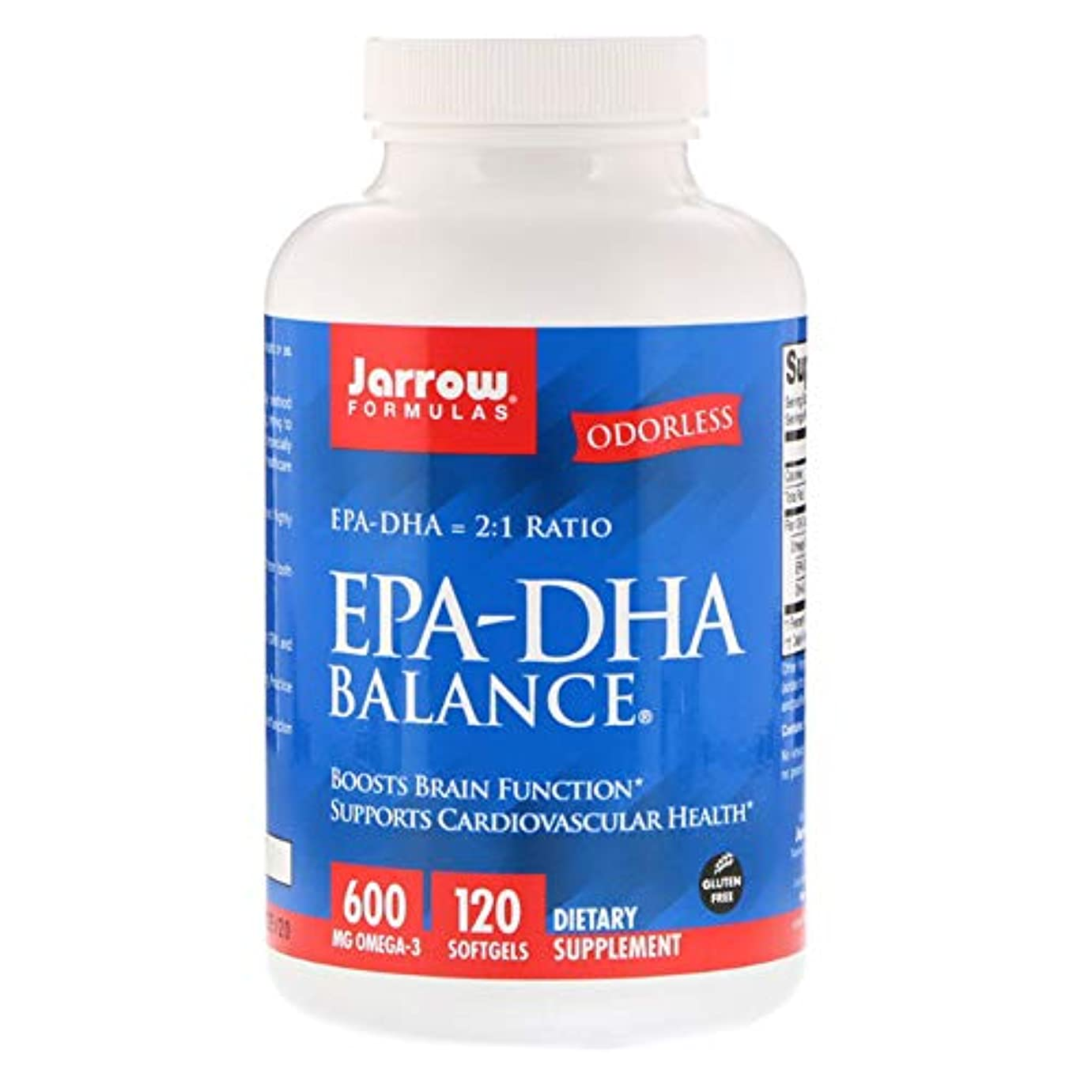 原始的な興奮フェンスJarrow Formulas EPA DHA Balance ソフトジェル 120粒 【アメリカ直送】
