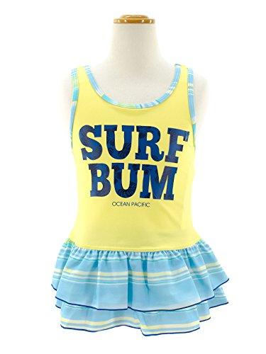 (オーシャンパシフィック)OCEANPACIFIC女の子用水着566800キッズ水着120YEL