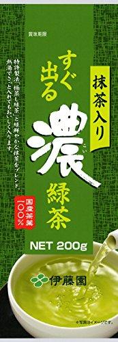 伊藤園 すぐ出る濃緑茶 抹茶入り煎茶 200g