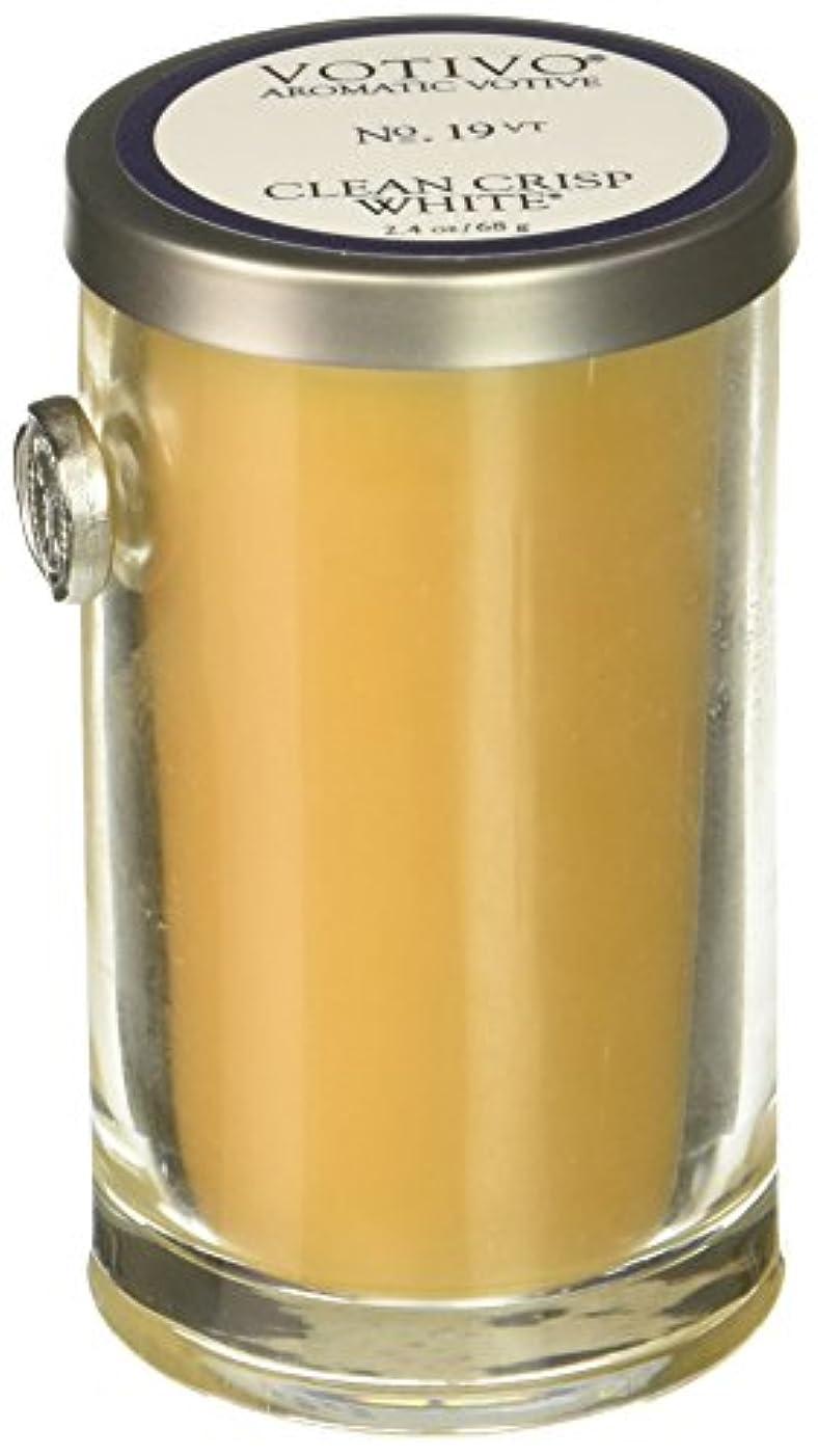 土砂降り放射能失望VOTIVO AROMATIC VOTIVE CANDLE CLEAN CRISP WHITE