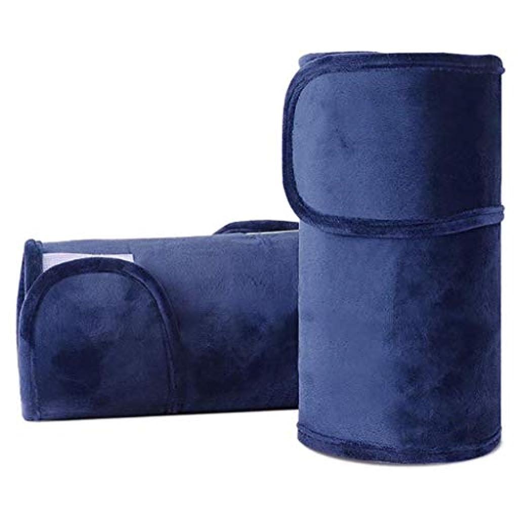 ドラフトフェミニン破滅レッグマッサージ、電気看護膝温熱パッド、レッグマッサージセラピーリラクゼーション、在宅勤務に適した、血行促進 (Color : 青)