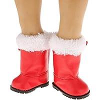 レッド冬暖かいブーツ靴フィット18