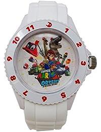 スーパーマリオオデッセイ シリコンウォッチ スーパーマリオ マリオ ゲーム 腕時計 時計 シリコン (ホワイト)