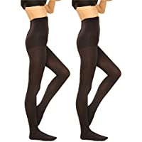 2 Pairs Women 130D Microfiber Opaque Pantyhose Tights 3 Sizes
