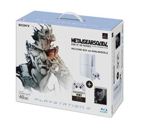 PLAYSTATION 3(40GB) メタルギア ソリッド 4  ガンズ・オブ・ザ・パトリオット WELCOME BOX with DUALSHOCK 3 セラミック・ホワイト 特典 オリジナルバッグ付き
