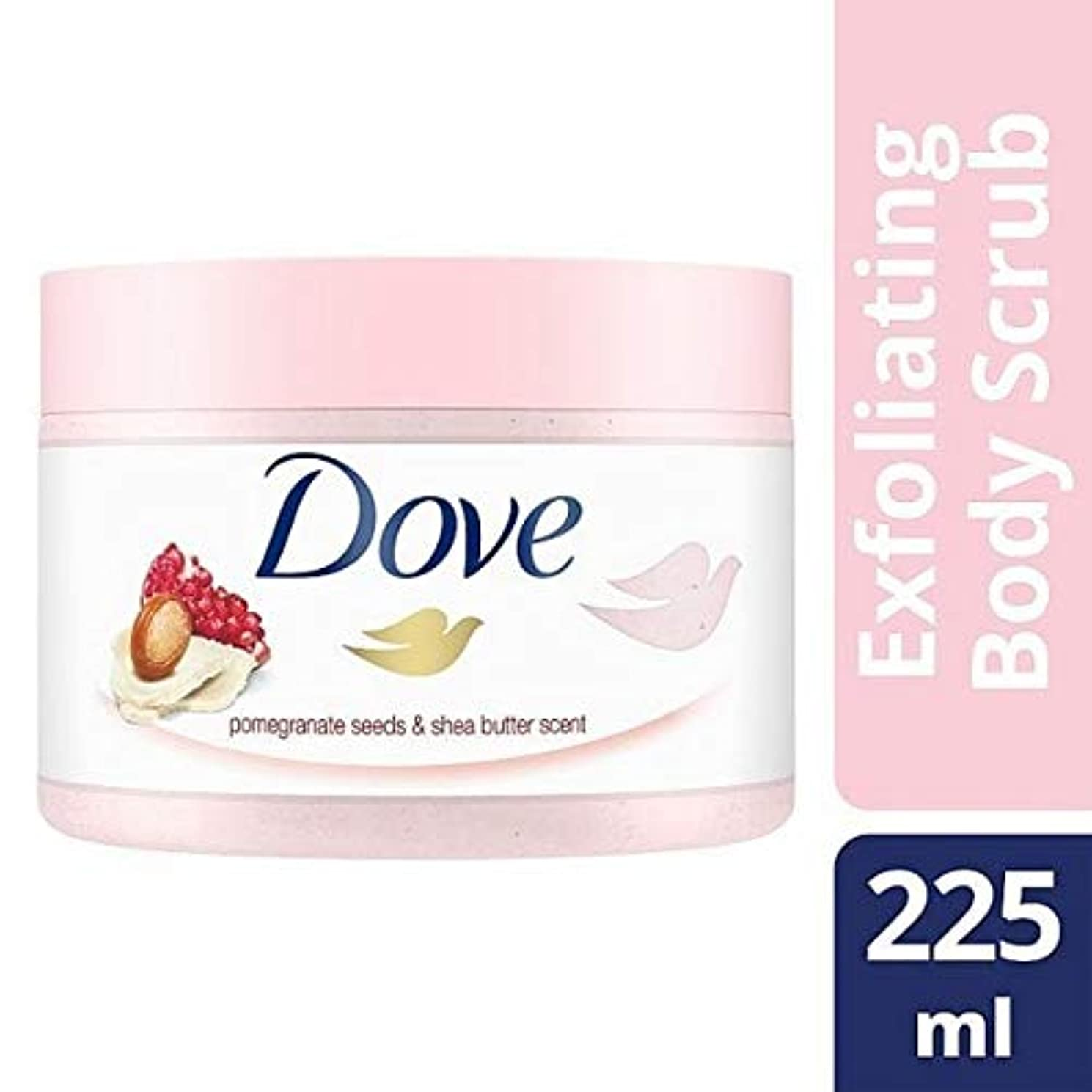 [Dove ] 225ミリリットルボディスクラブザクロ種子を剥離鳩 - Dove Exfoliating Body Scrub Pomegranate Seeds 225ml [並行輸入品]