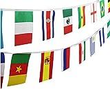 【Liroyal】万国旗 20* 30CM 総長10m ビロード製 32カ国連続万国旗 スポーツ運動会、貿易会社の飾りにも (10メートル)