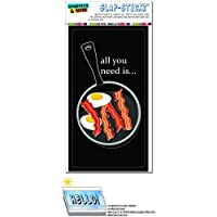 ベーコンあなたが必要と卵のすべてブラック - 朝ごはん SLAP-STICKZ(TM)プレミアムステッカー