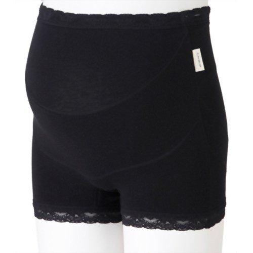 犬印本舗 ママと犬印の共同企画らくばきパンツ妊婦帯 M ブラック 綿 HB8363