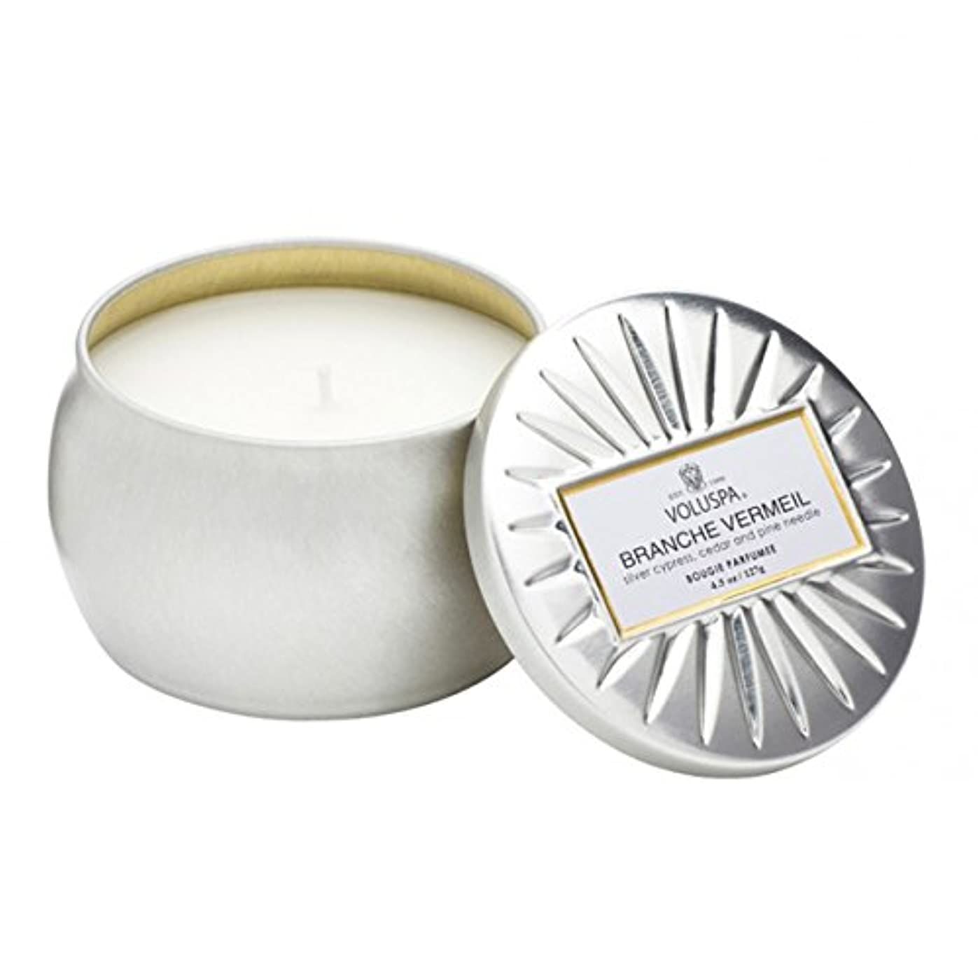 グラマー栄光の意気消沈したVoluspa ボルスパ ヴァーメイル ティンキャンドル  S フ?ランチヴァーメイル BRANCHE VERMEIL VERMEIL PETITE Tin Glass Candle