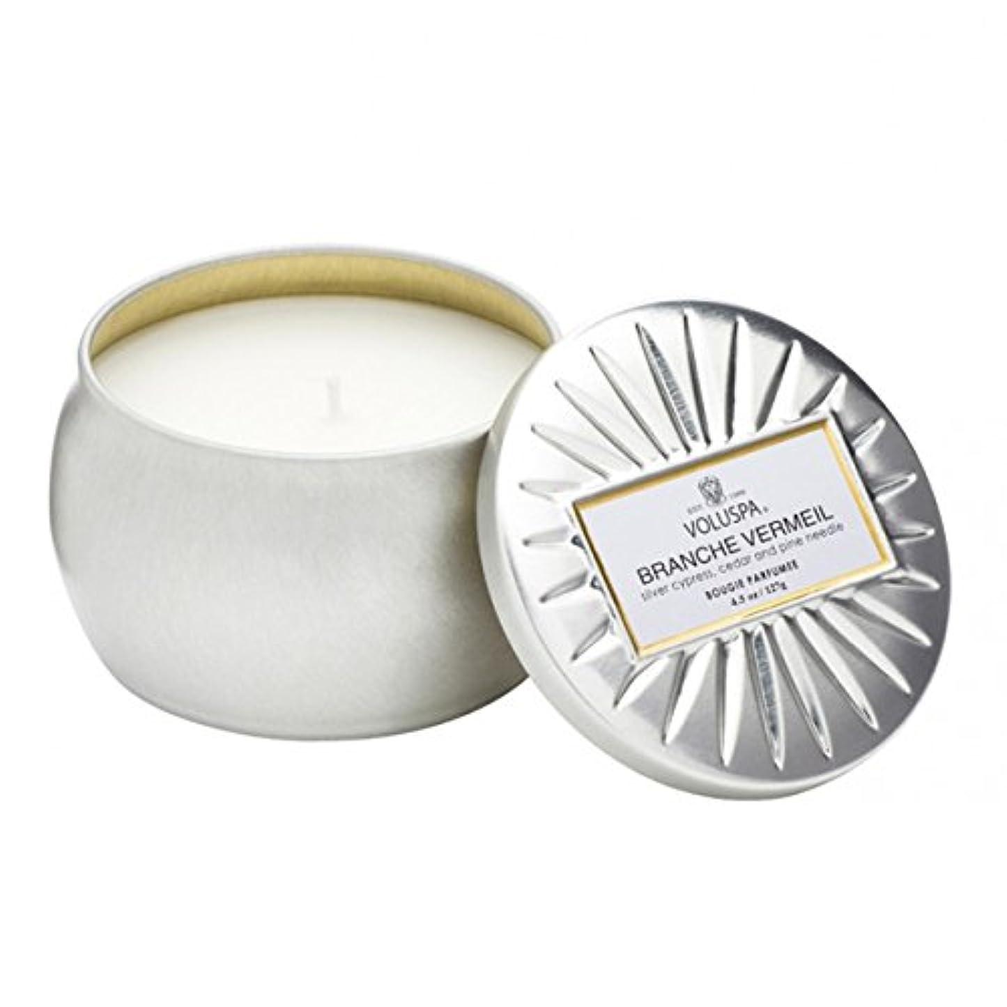 補助金に変形するVoluspa ボルスパ ヴァーメイル ティンキャンドル  S フ?ランチヴァーメイル BRANCHE VERMEIL VERMEIL PETITE Tin Glass Candle