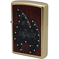 ZIPPO(ジッポ) オイルライター Leather Flame Gold Dust 28832