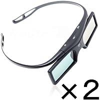 ルートアール Bluetooth互換 アクティブシャッター方式 3Dメガネ ボタン電池 2コセット RV-3DGBT2BX2