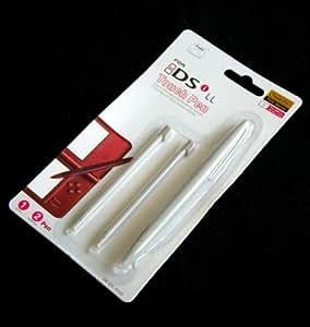 DSiLL タッチペン 【ホワイト】 ☆大1/小2本の3本セット