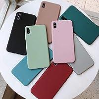 KAZOKUYiZi スマートフォンケース スマホケース 携帯ケースfor For iphone XSMax/X/XR/6/6s/7/8Plus かわいい 薄型 軽量 保護ケース 携帯電話アクセサリー ファッション 携帯カバー 単色シリコーンカップルケース キャンディーカラー (Color : Gray, Size : For iphone 8)