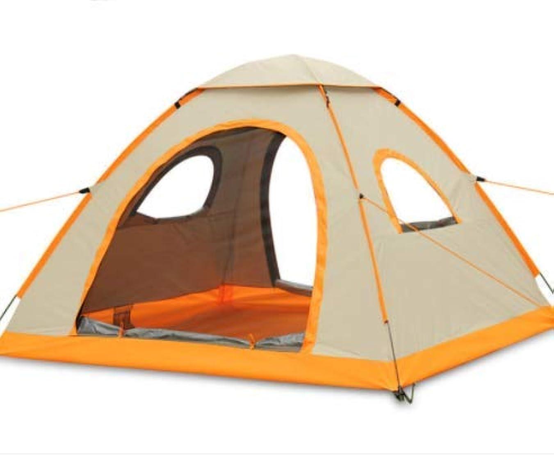 プール盗難溶融Sun-happyyaa 屋外のキャンプのピクニックキャンプのテント3-4人雨の防水日焼け止め自動テント210 * 210 * 130センチメートル高級オックスフォード布簡単にインストール 購入へようこそ (Color : カーキ)