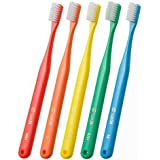 オーラルケア タフト24 一般成人用 3列歯ブラシ 10本セット  MH(ミディアムハード) レッド