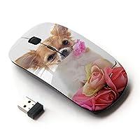KOOLmouse [ ワイヤレスマウス 2.4Ghz 無線光学式マウス ] [ Chihuahua Roses Valentine Dog Pet ]