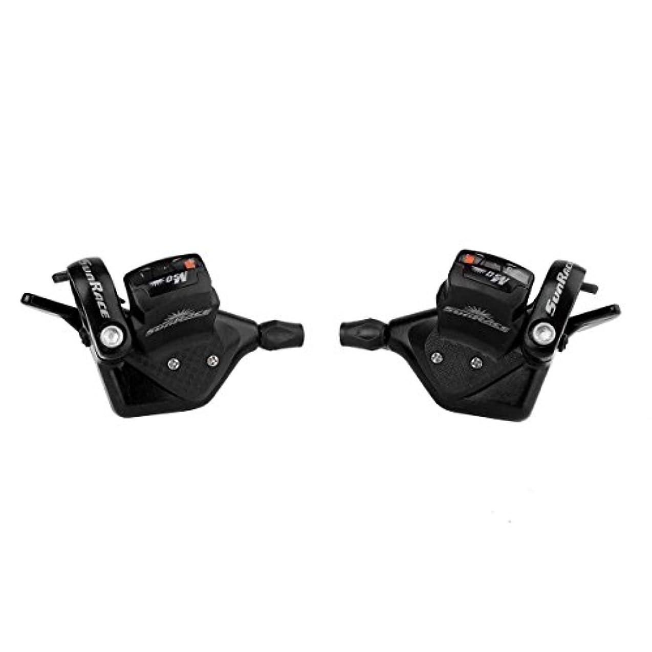 ジャングルタクト地雷原Sunrace M53 8-Speed Shifter Set Black by SunRace