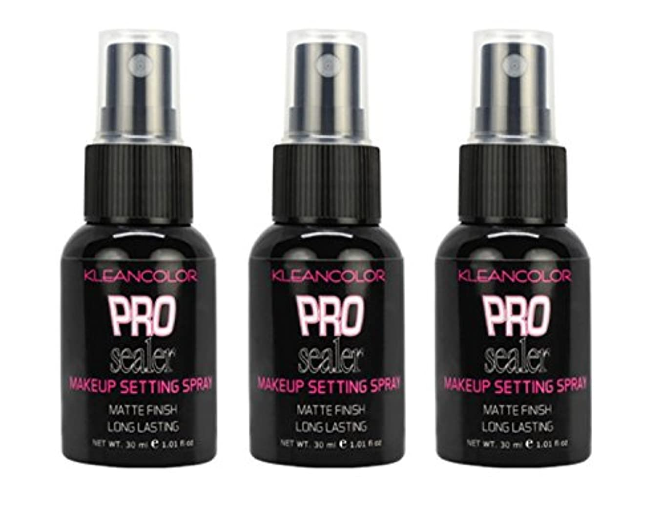 脆いクローゼットしかし(3 Pack) KLEANCOLOR Pro Sealer Makeup Setting Spray - Matte Finish (並行輸入品)