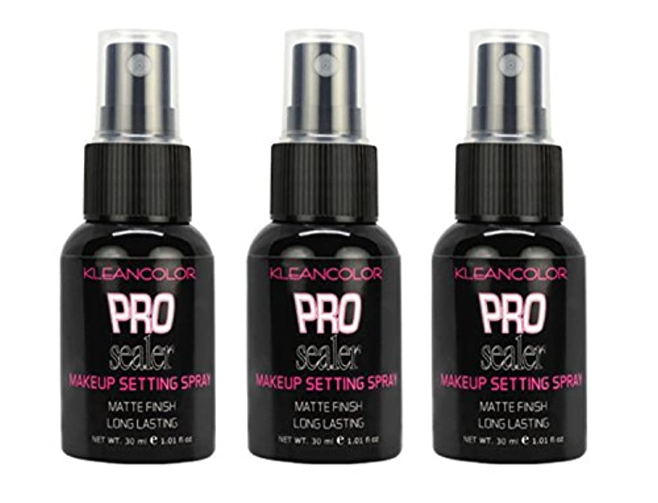 代わりのメンテナンス砂(3 Pack) KLEANCOLOR Pro Sealer Makeup Setting Spray - Matte Finish (並行輸入品)