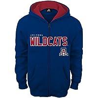 NCAA Arizona Wildcats Boys Stated Full Zip Hoodie, Medium (10-12), Dark Navy