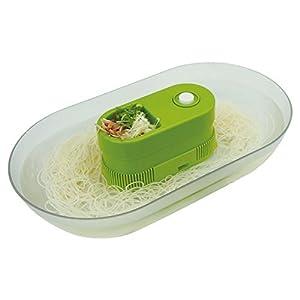 パルマート 流しそうめん器 涼美 グリーン W35×D20×H7.5cm 素麺 HAC1326
