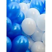 grandshop 50193おもちゃバルーンメタリックHDブルー&ホワイト(パックof 50 )