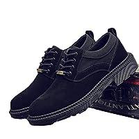 カジュアルシューズ レースアップ メンズ スエード デッキシューズ ワーク ローカット マーチン 防滑 ローカット ウォーキング 滑り止め 秋 履きやすい ファッション 短靴 ビジネス 軽量 ブラック イエロー 紳士靴