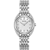 Bulova Women's Quartz Watch Metal Bracelet analog Display and Stainless Steel Strap, 96R212