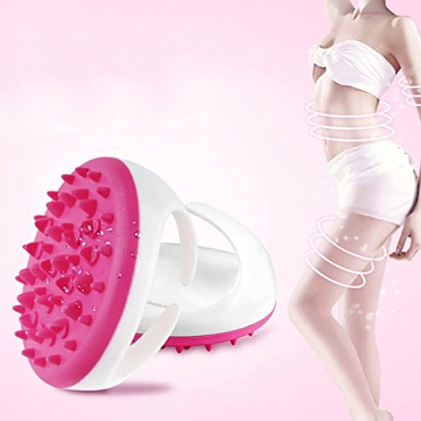 開発する致命的なポーズCarejoy マッサージ ブラシ ボディ シェイプ 美形 ダイエットブラシ 血液循環新陳代謝を促進 腹部 臀部 足など用  ピンク グリーン パープル色ランダムに発送