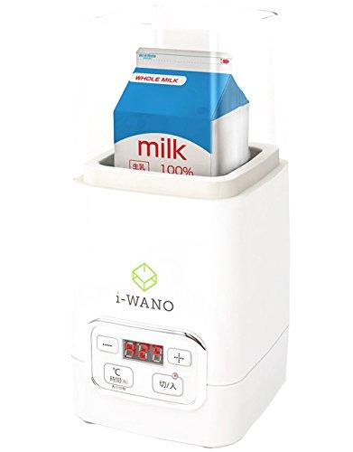i-WANO (岩野) ヨーグルトメーカー 【温度調節機能(20~70℃) / タイマー機能(30分、1~99時間)】 すぐに作れるレシピ 1,000ml容器 計量スプーン クリップ2個付属