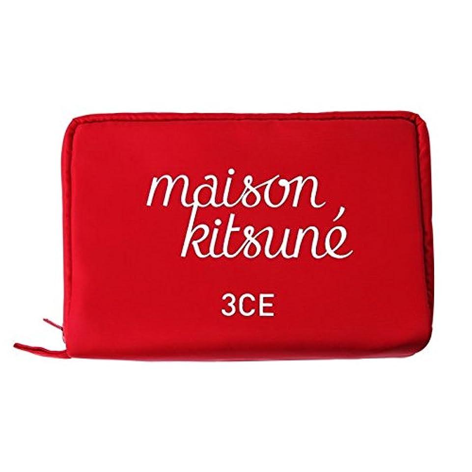 平らな版主に3CE MAISON KITSUNE POUCH #RED/ 3CE メゾンキツネ ポーチ [並行輸入品]