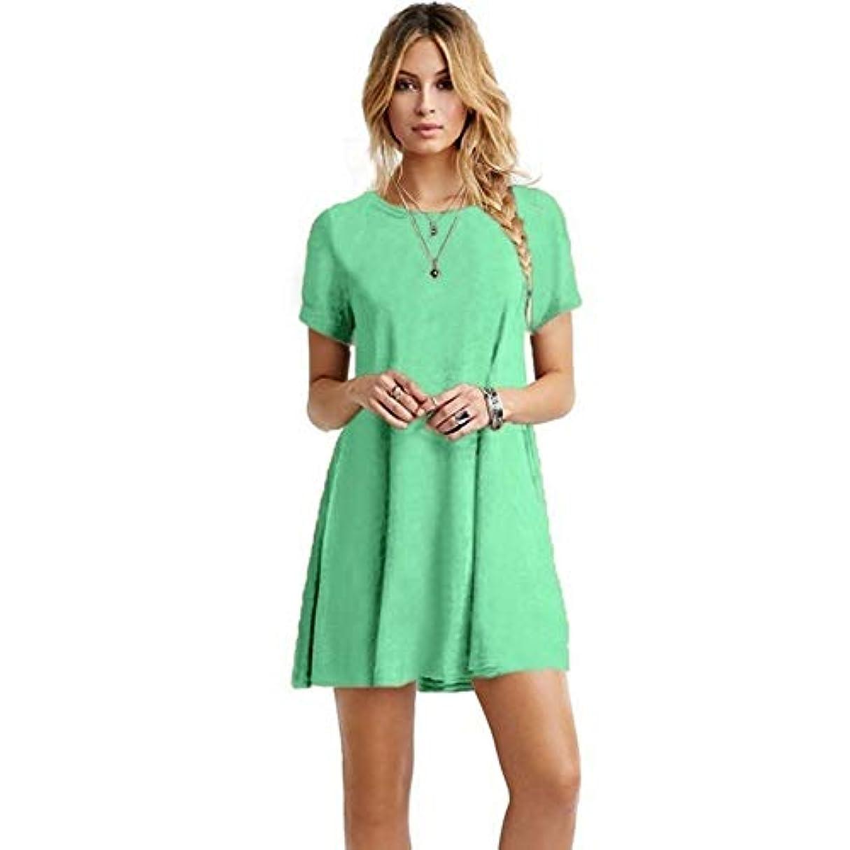 厳しい特性販売計画MIFAN の女性のドレスカジュアルな不規則なドレスルースサマービーチTシャツドレス