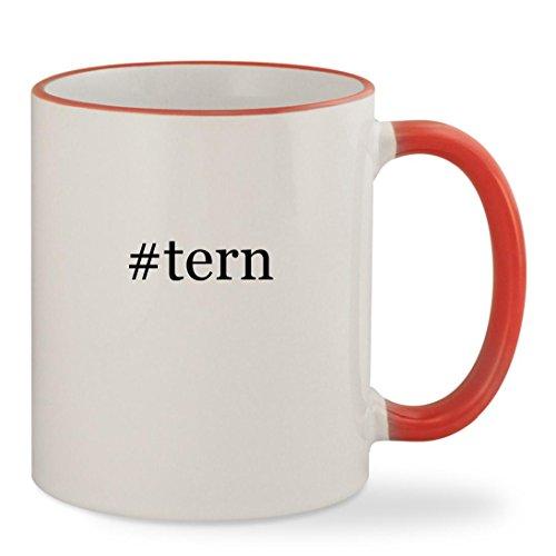 # Tern–11オンスハッシュタグColoredリム&ハンドル頑丈なセラミックコーヒーカップマグ レッド US-C-04-17-02-057867-04-21-17-16