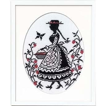オリムパス製絲 クロスステッチ刺しゅうキット オノエ・メグミ 「赤毛のアンの物語」 いちご摘み 7454
