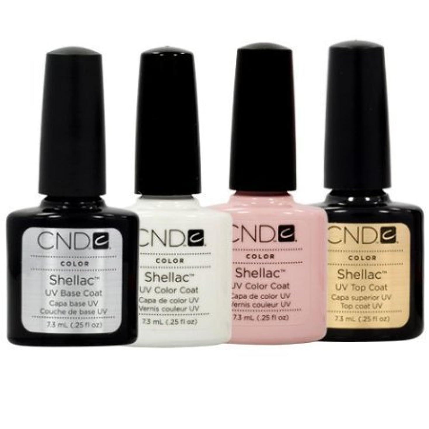 専門知識アレルギー性膨らませるCND Shellac French Manicure Kit Base Top Coat Color White Pink Nail Polish Gel by CND - Creative Nail Design [...